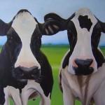 """""""2 ladies"""" 100 x 120 cm Sold"""