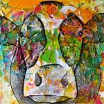 """""""Cow#11.06"""" 20 x 20 cm € 50,-"""