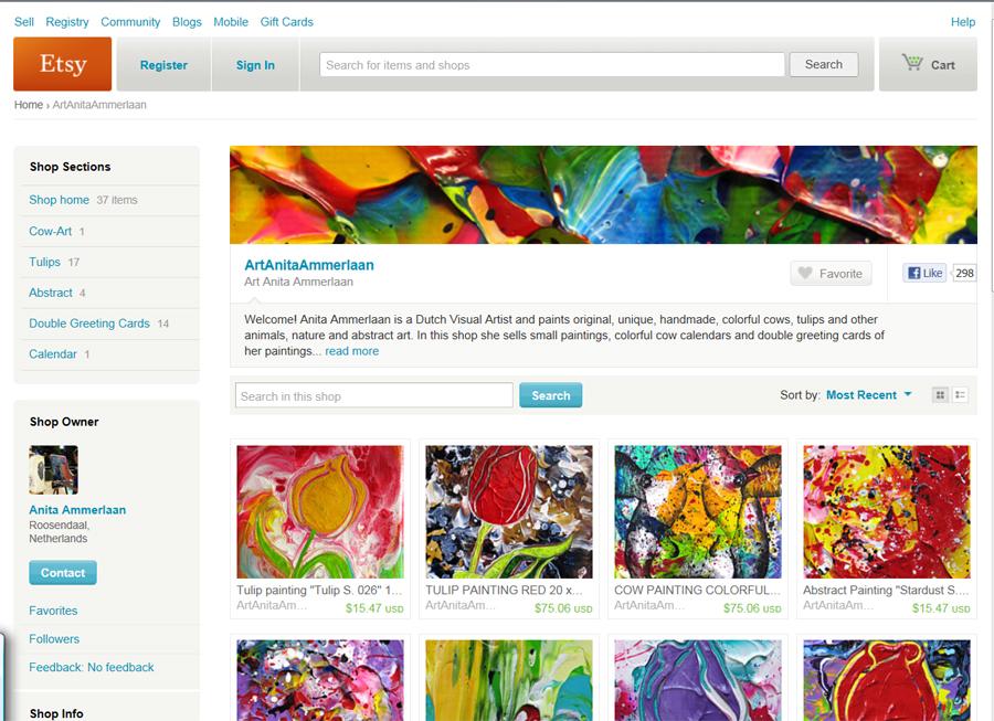 Etsy webshop