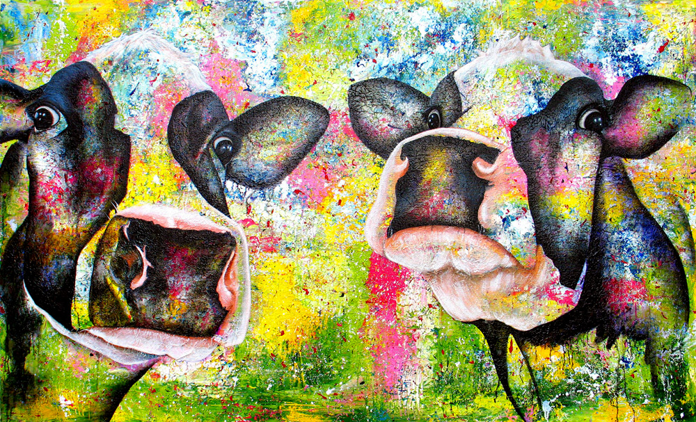 Twin Cows 120 x 200 cm € 2750,-
