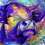 """""""Violet Flame"""" 80 x 80 cm Sold"""