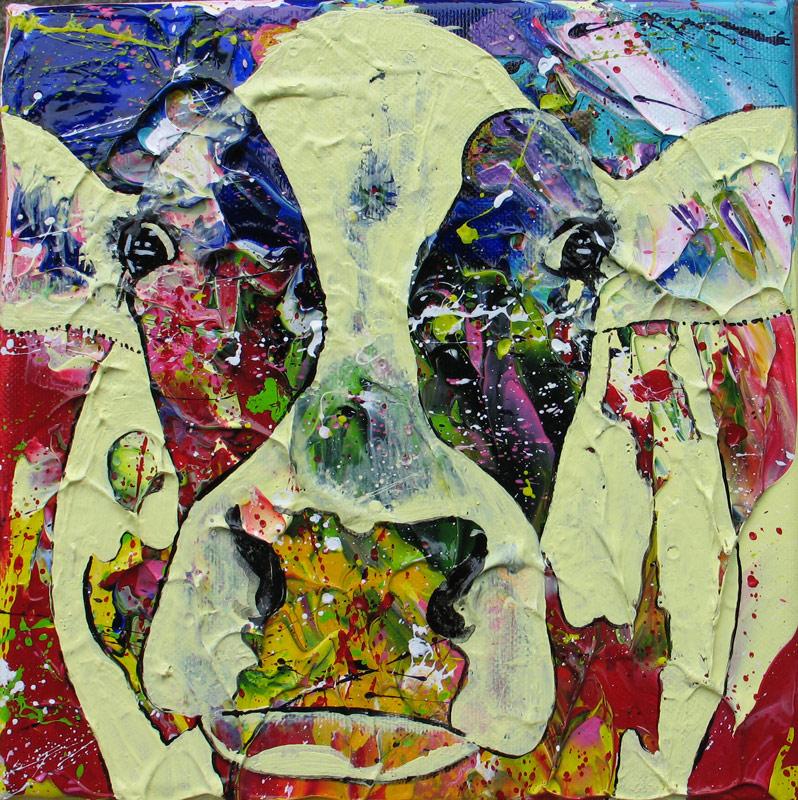 """""""Cow#L039"""" 20 x 20 cm. Sold"""